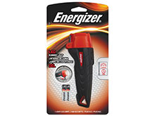 Energizer ENRUB22E  - Small Rubber LED Flashlight - Uses 2 x AAA Batteries