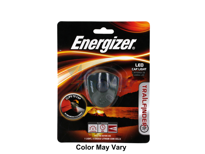 Energizer HAT2BODBP - Trailfinder 1 LED Cap Light - Uses 2 x CR2032 Batteries