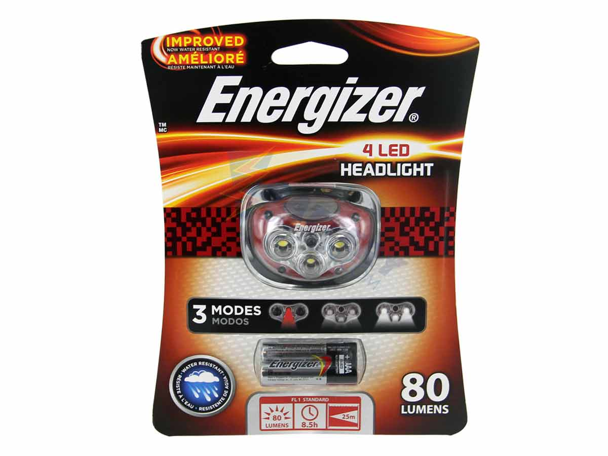 Energizer 4-LED Headlamp - 28 Lumens - Includes 3 x AAAs (HD4L33AE)