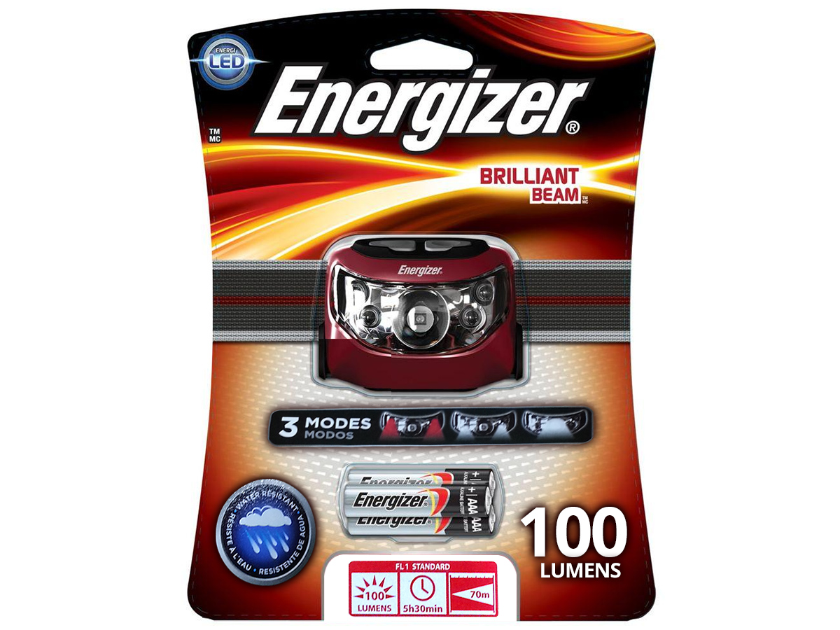 Energizer Brilliant Beam LED Headlamp - 100 Lumens - Includes 3 x AAAs (HD5L33AE)