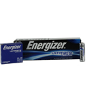 Energizer Ultimate L91 (24PK) AA 3000mAh 1.5V High Energy 5A Lithium (LiFeS2) Button Top Batteries - Box of 24