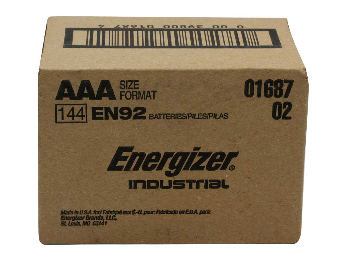 Package shot of the alkaline battery - 144 pack
