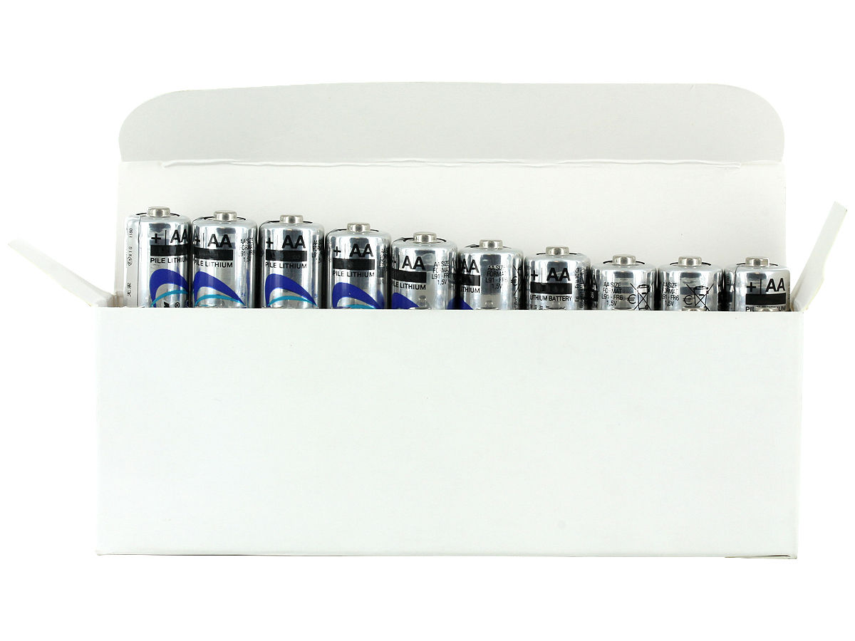 Box of 20 L91 Batteries