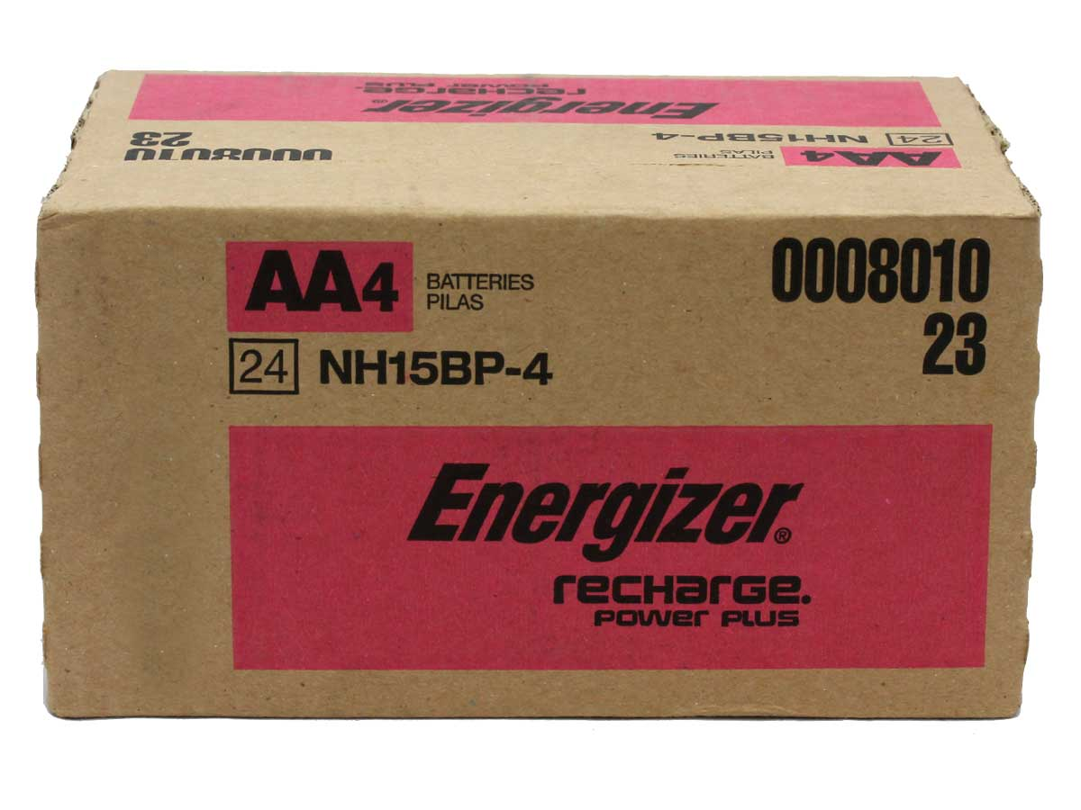 Energizer Recharge NH15-BP-4 AA 2300mAh 1.2V Nickel Metal Hydride (NiMH) Button Top Batteries - 4 Pack Retail Card