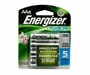 Energizer Recharge NH15-BP-8 AA 2300mAh 1.2V Nickel Metal Hydride (NiMH) Button Top Batteries - 8 Pack Retail Card
