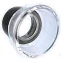 10x Plastic Magnifier Eye Loupe (Black & Clear)