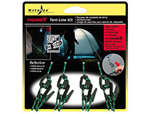 Nite Ize Figure 9 Tent Line Kit - 4-Pack with Ropes -Small - Black (F9T4-03-01)