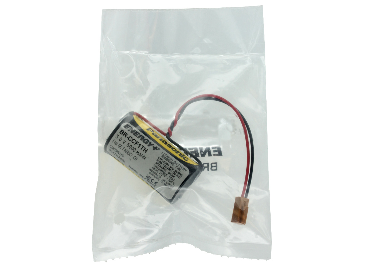 Energy+ BR-CCF1TH 5000mAh 3V Lithium (LiMnO2) Battery Pack for GE Fanuc - Heat Sealed Bag