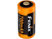 Fenix ARB-L16 16340 700mAh 3.7V Protected Lithium Ion (Li-Ion) Button Top Battery for PD25 and PD22UE Flashlights - Retail Packaging
