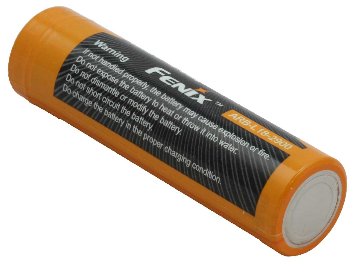 Fenix ARB-L18 18650 2900mAh 3.6V Protected Lithium Ion (Li-ion) Button-Top Battery - Clam Shell