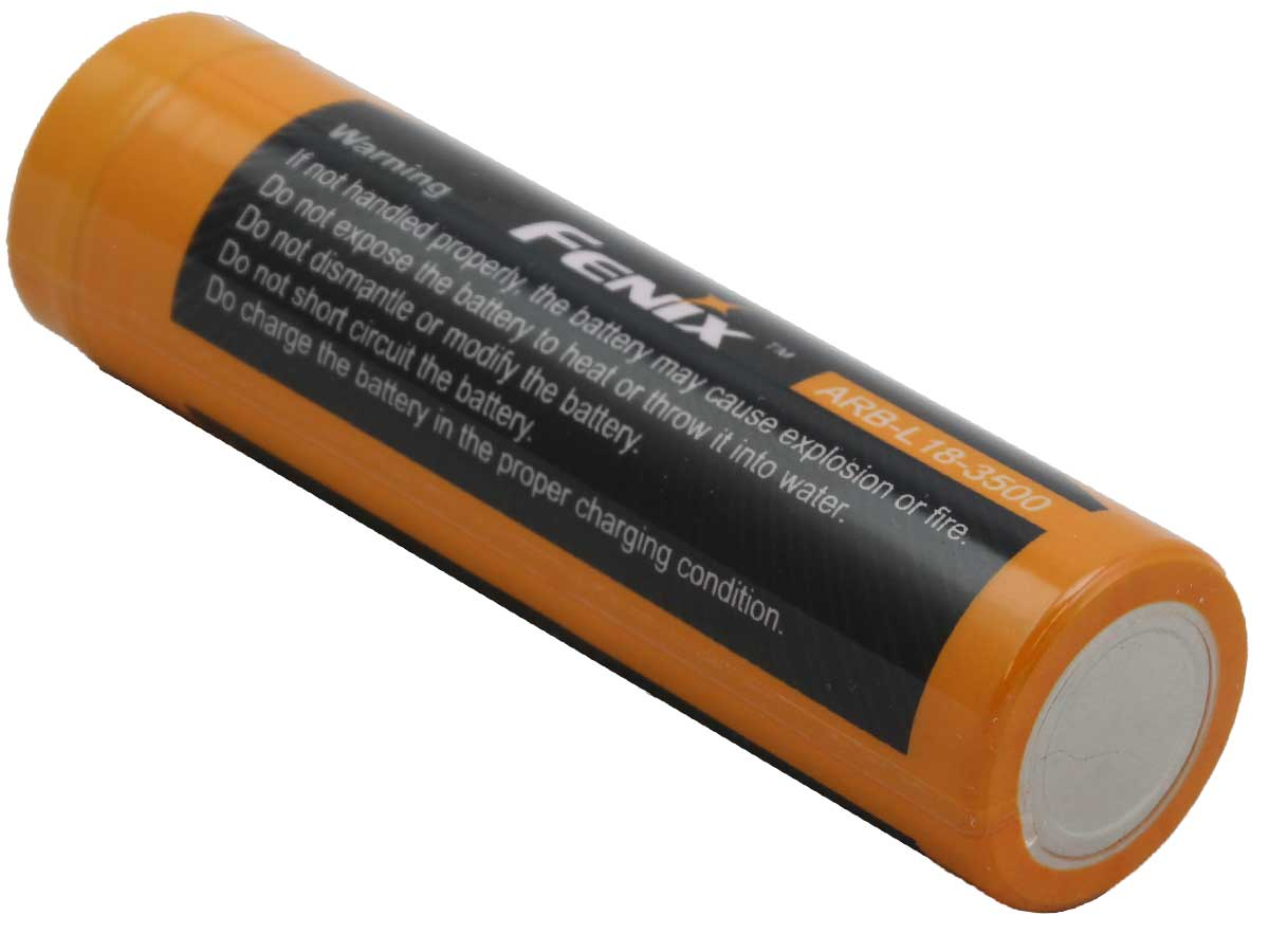 Fenix ARB-L18 18650 3500mAh 3.6V Protected Lithium Ion (Li-ion) Button Top Battery - Clam Shell