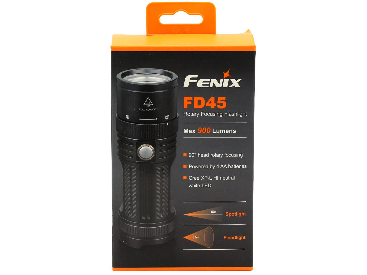 Package Shot of the Fenix FD45