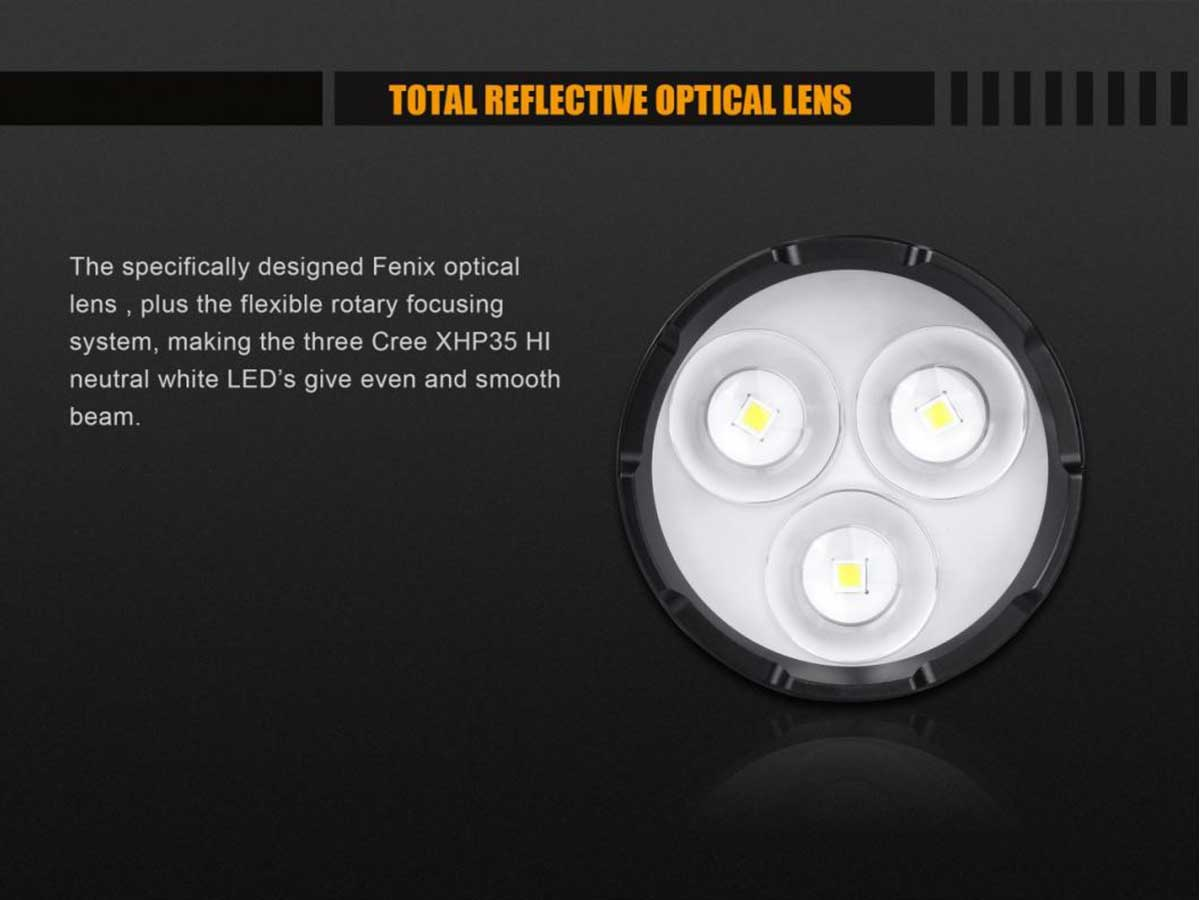 Fenix FD65 Focusable LED Flashlight - CREE XHP35 HI - 3800 Lumens - Neutral White - Uses 4 x 18650