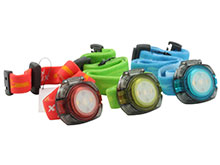 Fenix HL05 Lightweight Headlamp - Red and White LEDs - 8 Lumens - Includes 2 x CR2032s - Baby Blue, Green or Orange/Red