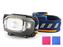 Fenix HL15 Lightweight Headlamp - CREE XP-G2 R5 Neutral White LED and Nichia Red LED - 200 Lumens - Uses 2 x AAAs - Black, Blue or Purple