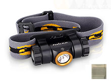 Fenix HL23 Lightweight Headlamp - CREE XP-G2 LED - 150 Lumens - Includes 1 x AA - Gold or Grey