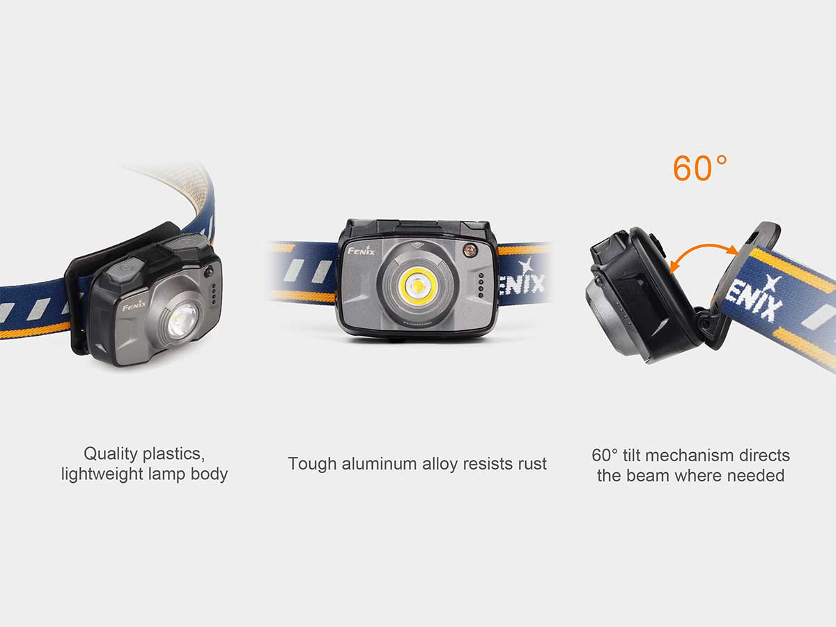Fenix HL32R Rechargeable LED Headlamp - CREE XP-G3 and Nichia Red LED - 600 Lumens - Uses Built-In 2000mAh Li-Poly Battery Pack