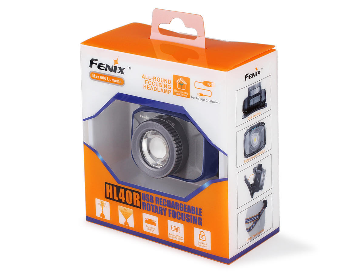 Package Shot of the Fenix HL40R