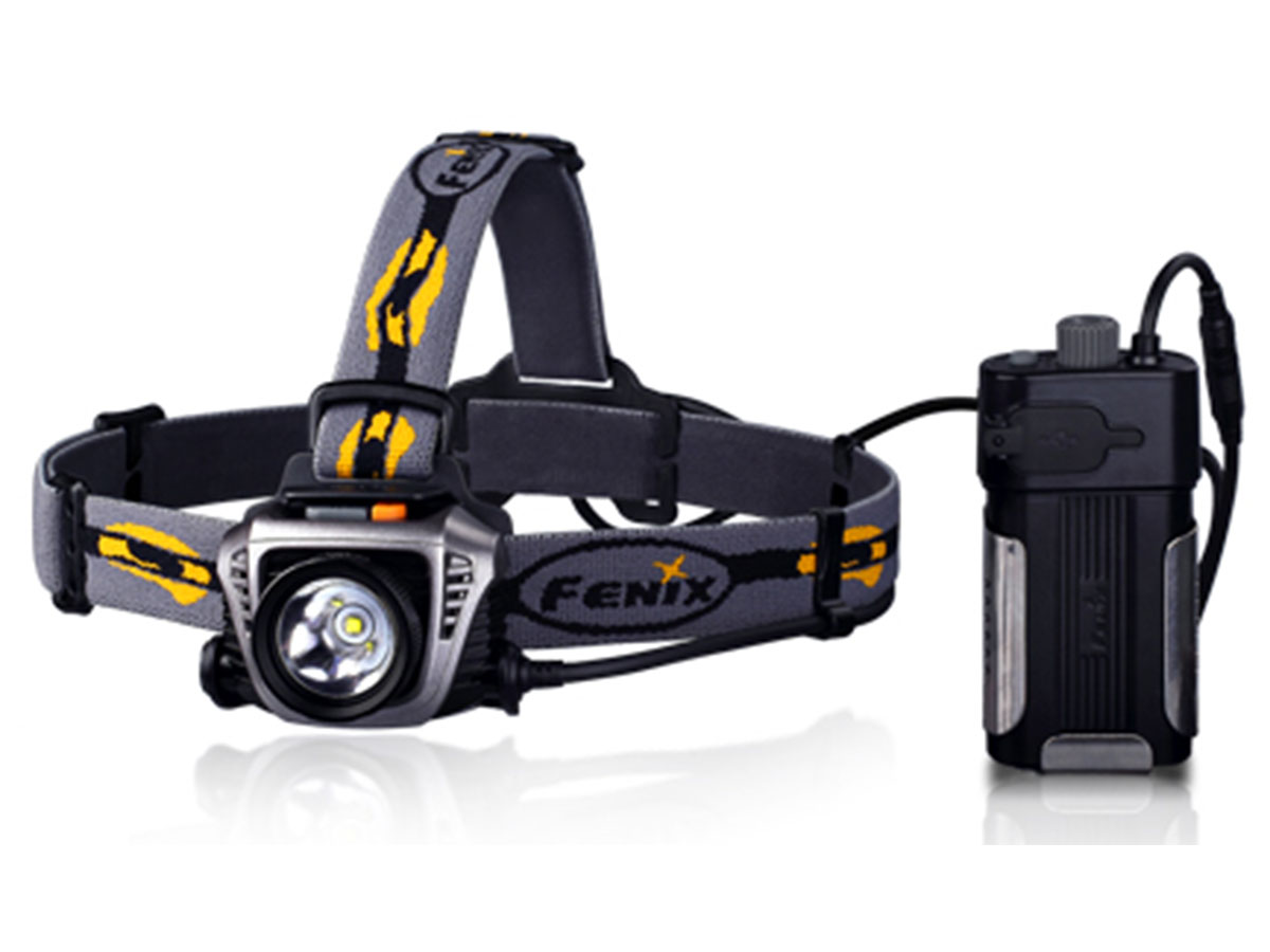 Fenix HP30 LED Headlamp - 900 Lumens - CREE XM-L2 LED - Runs on 4x CR123A or 2x 18650 (Batteries not included)