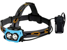 Fenix HP40F High Performance Fishing Headlamp - CREE XP-G2 R5  / XP-E2 M3 LED - 450 Lumens - 3000 mW Blue Light - Uses 4 x CR123As or 2 x 18650s