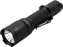 Angle Shot of the Fenix TK16 Tactical Flashlight
