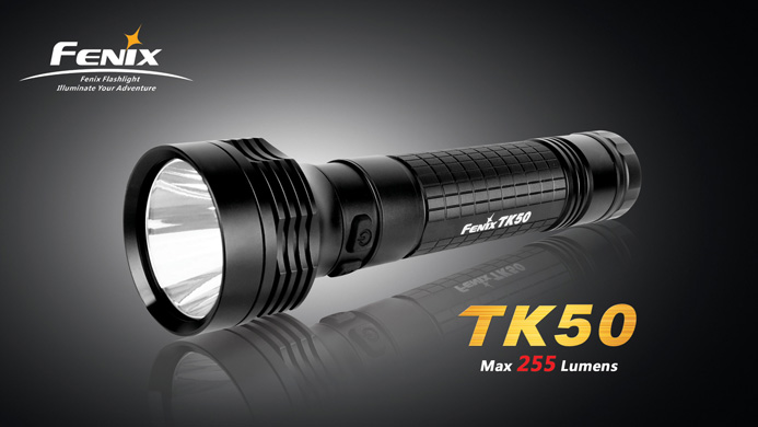 Fenix TK50 LED Flashlight - CREE XP-G R5 LED - 255 Lumens - Uses 2x D Cell Batteries