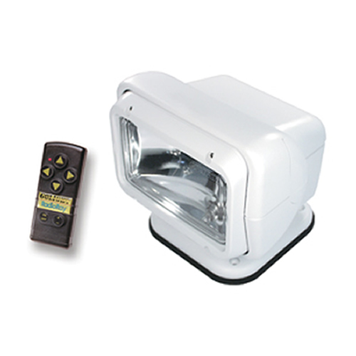 Golight Permanent Mount Radioray Remote Controlled Spotlight With Wireless Remote - Available in White or Black