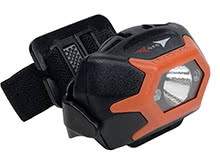 Inova STS Helmet Light - With White & Red LED - 142 Lumens - Orange Body - Uses 3 x AAA Batteries (HLSHA-19-R7)