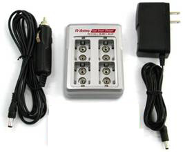 iPower FC-9V4LN 9V Lithium Ion Battery Fast Smart Battery Charger FC-9VX44