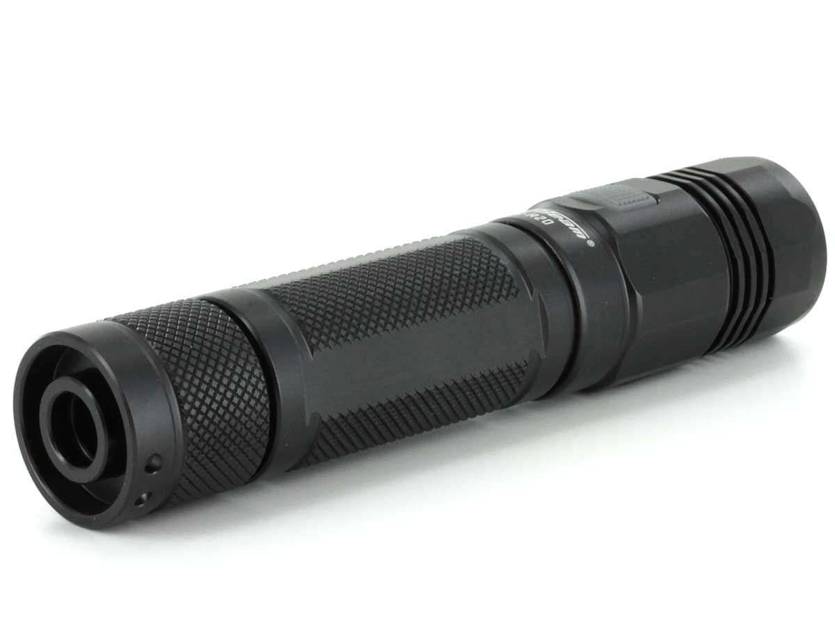 JETBeam DC-R20 Professional Outdoor USB Rechargeable Flashlight - CREE XP-L LED - 1200 Lumens - Uses 1 x 18650 or 2 x CR123As