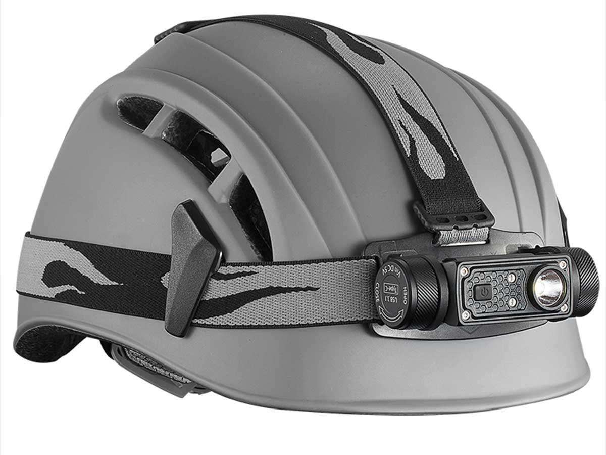 Headlamp Shown on Helmet