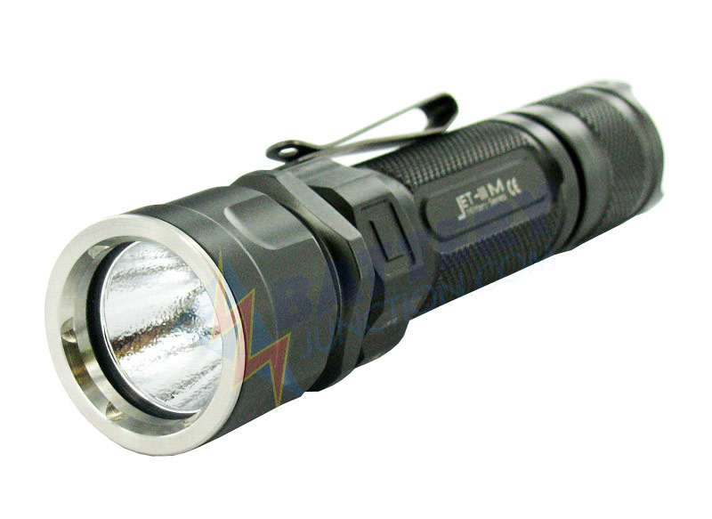 JetBeam Jet III M LED Flashlight - Cree XML LED - 450 Lumens - OP Reflector - Uses 2 x CR123A, 2 x RCR123A, or 1 x 18650 Battery