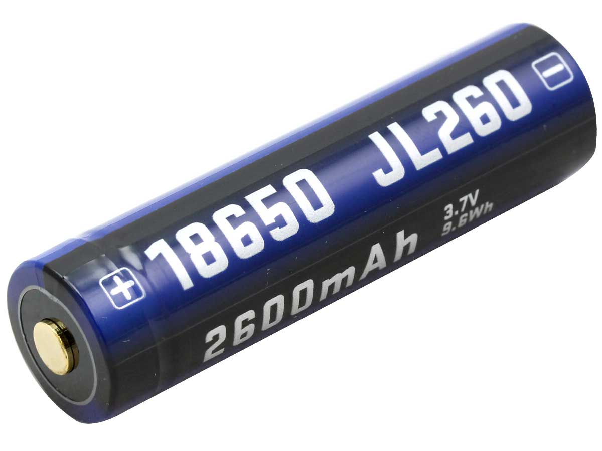 JETBeam JL260 18650 2600mAh 3.7V Protected Lithium Ion (Li-ion) Button Top Battery - Blister Pack