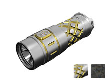 JETBeam TCE-1 Ti Limited Edition Titanium Flashlight - CREE XP-L LED - 600 Lumens - Uses 1 x 16340 or 1 x CR123A - Titanium