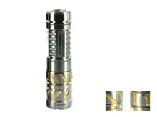 JETBeam TCR20 Ti Limited Edition Titanium Flashlight - CREE XP-L LED - 500 Lumens - Uses 1 x 16340, 1 x CR123A or 1 x AA - Dotted or Striped