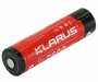 Klarus  18650 2600mAh 3.7V Lithium Ion (Li-ion) Protected Button Top Battery - Plastic Box (18650BAT-26)