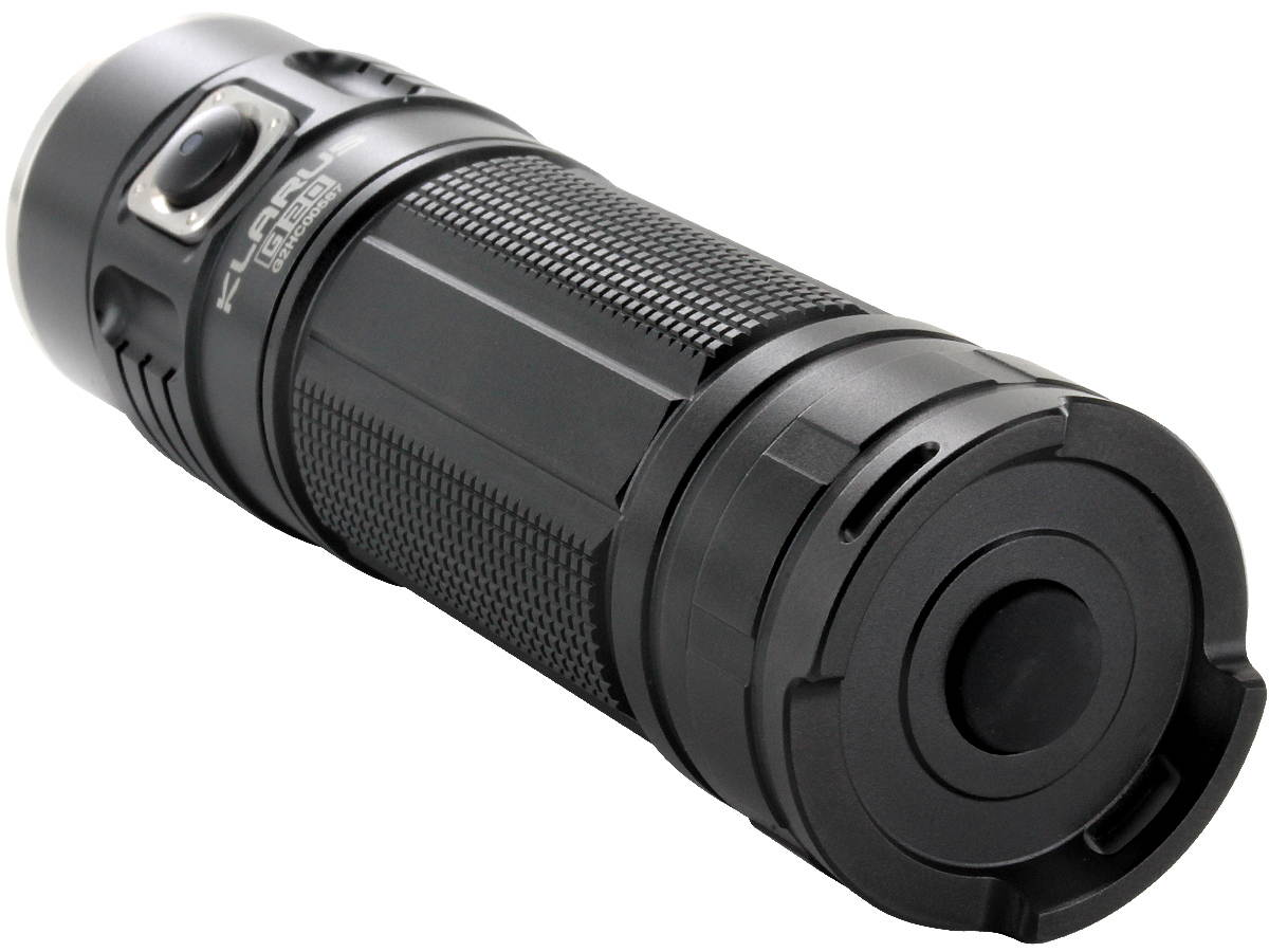 Klarus G20 Dual Switch Rechargeable Flashlight - CREE XHP70 N4 LED - 3000 Lumens - Includes 1 x 26650