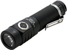 Angle Shot of the Klarus ST10 Rechargeable LED Flashlight