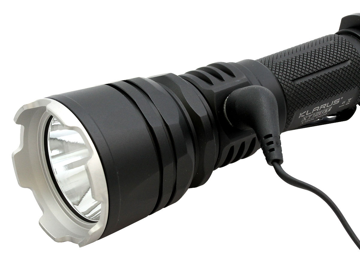 Charging Shot of the Klarus XT12GT Rechargeable LED Flashlight