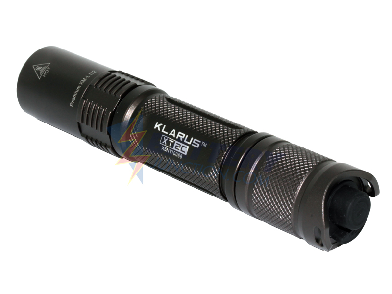 Klarus XT2C LED Flashlight - CREE XM-L2 (U2) LED - 725 lumens - Uses 2 x CR123A Batteries - Dark Grey Finish