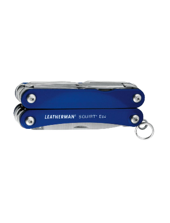 Leatherman Squirt ES4 Multi-tool with Red, Black, or Blue Aluminum Handle in Box Packaging