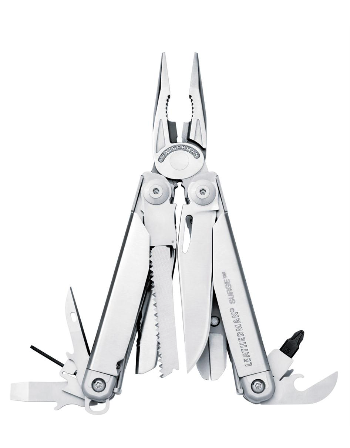 Leatherman Surge Multi-tool with Standard Stainless Finish with Leather, MOLLE, or Nylon Holster in Box Packaging