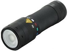 Ledlenser T2QC Quad-Color LED Flashlight - 140 Lumens - Uses 3 x AAA Batteries