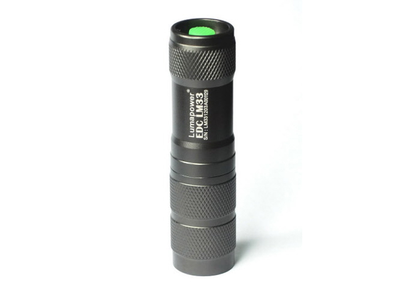 LumaPower LM33 EDC LED Flashlight with CREE XP-G R5 - Uses 1 x CR123A or 1 x 16340