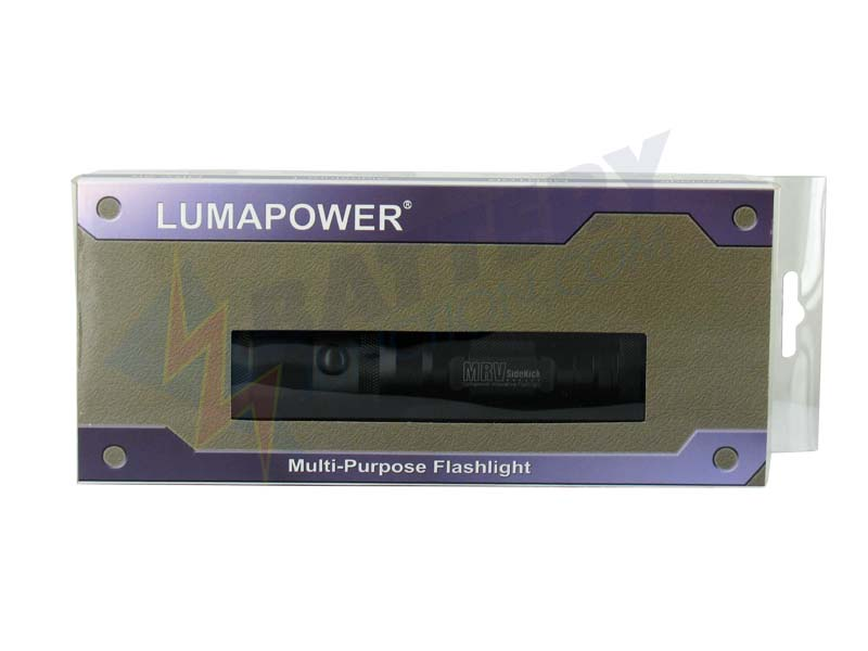 LumaPower MRV SideKick IV LED Flashlight with CREE XM-L (T6) Cool White LED Up to 850 Lumens - Uses 2 x CR123A or 1 x 18650