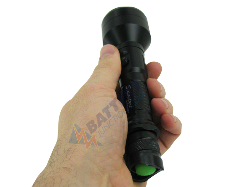 LumaPower Signature LX Power Pack LED Flashlight with CREE XM-L LED Cool White - Uses 2 x CR123A or 1 x 18650