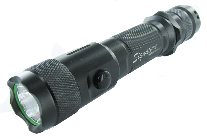 LumaPower Signature Tactical LX LED Flashlight with CREE XM-L LED, up to 580 Lumens - 2 x CR123A or 1 x 18650