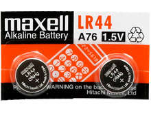 Maxell LR44 1.5V Alkaline Coin Cell Battery (A76 76A AG13 L1154 G13 V13GA 357) - 1 Piece Tear Strip, Sold Individually