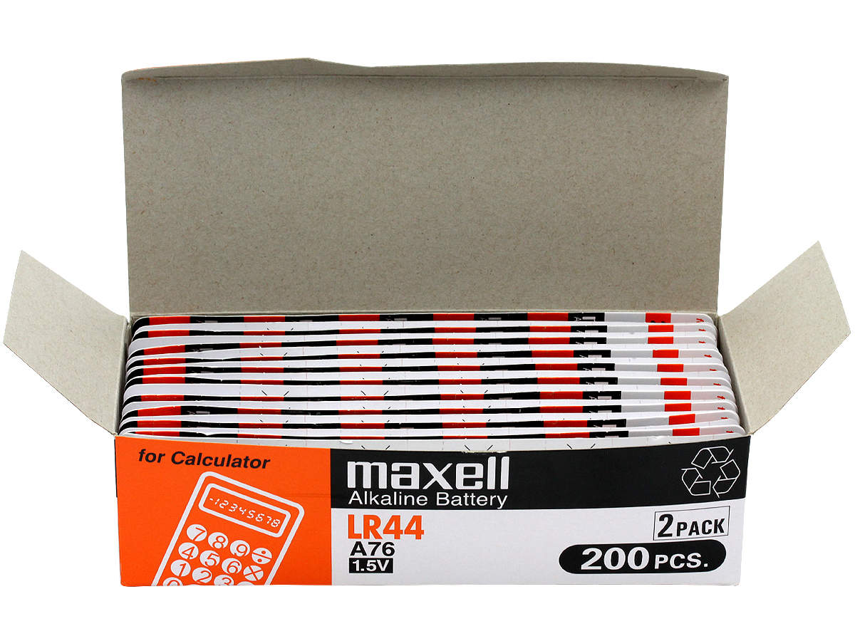 Open Box of 200 Maxell LR44