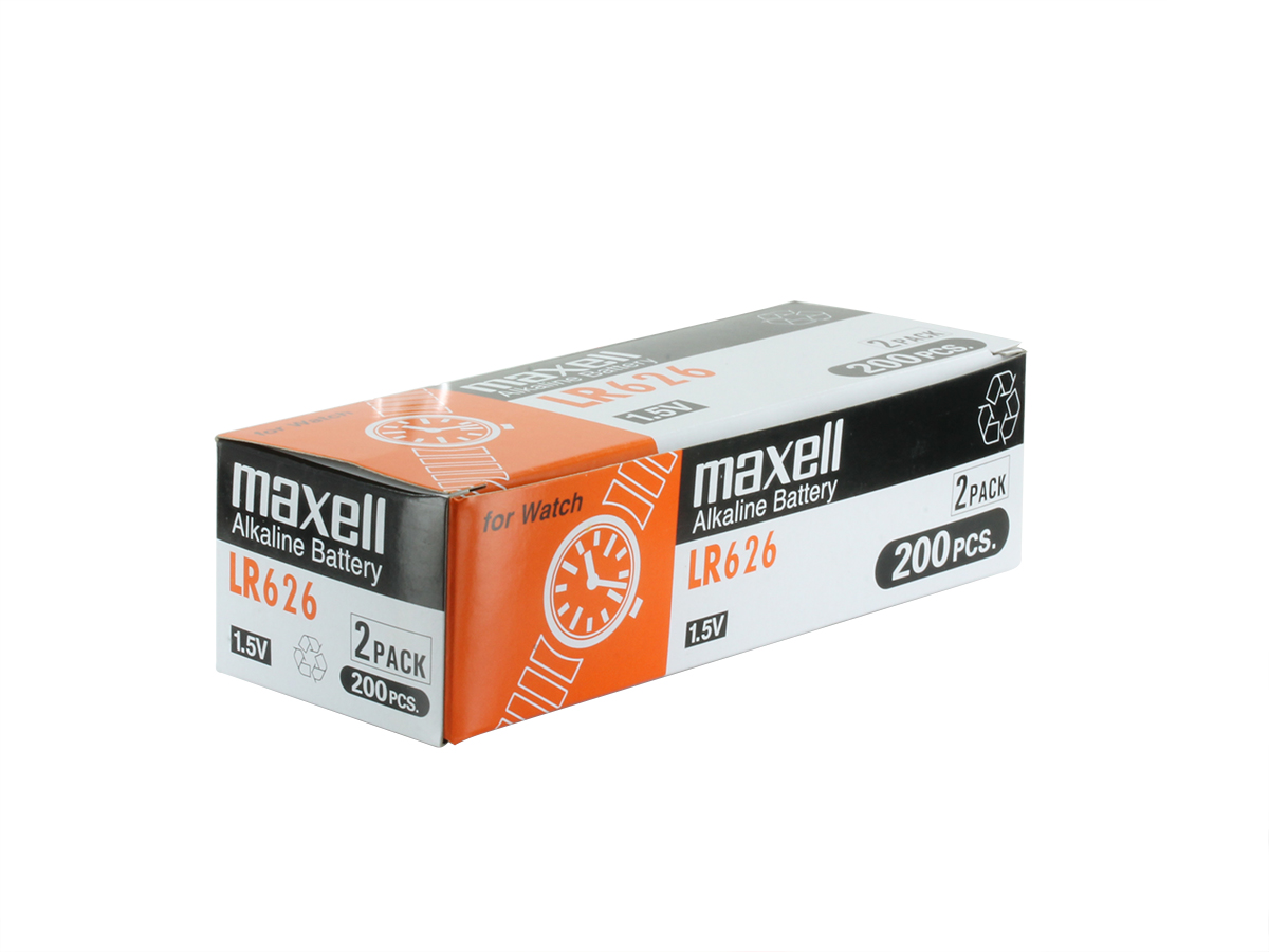 Maxell LR626 Alkaline 1.5V Coin Cell Battery (AG4) - 1 Piece Tear Strip, Sold Individually